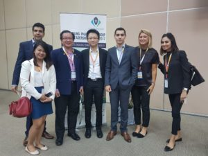 The mClinica delegation with key pharmacy leaders. Left to right: Farouk Meralli, Diana Orolfo, MPS Deputy President Andrew Tan, YPC Chairperson Lim Shi Hao, Lindsay Nickel, Jasveen Bhullar