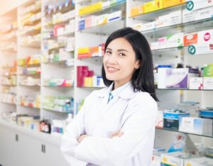 mClinica Pharmacy Solution pharmacist girl